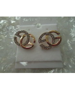 Ladies Fashion G with Crystal Stud Earrings Brand New - $15.50