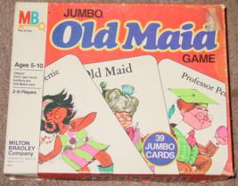 Old Maid Game Jumbo 1978 Milton Bradley Complete Vintage Game - $25.00