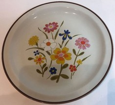 Spring Flower By Grace Multi-Color Flowers Oven Proof Stoneware Dinner Plate - $15.83