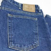 Beretta Men Blue Denim Jeans W 40 L 32 Made in USA - $44.99