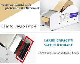 Water Activated Tape Dispenser- Elepa Manual Kraft Tape Dispenser,3.5-Inch Wide, image 2