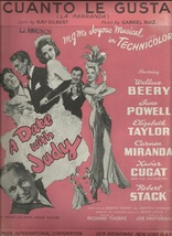 1948 Cuanto Le Gusta from movie A Date with Judy Vintage sheet music - $7.95