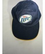 Miller Lite Navy Blue Adjustable Strapback Baseball Cap Hat Beer Acme Ap... - $9.85