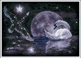 Cross Stitch Kit Panna Moon Swan - $27.00