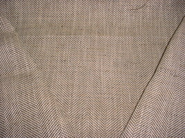 2 F Schumacher Jute Herringbone Teak Herringbone Weave Upholstery Fabric - $35.53
