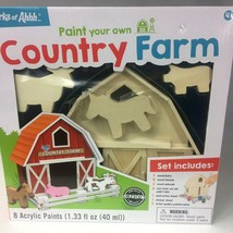 NEW MasterPieces Works of Ahhh... Paint Your Own Wooden Country Farm Kit... - $15.88