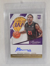 2015 panini prestige Antthony Brown numbered 207/229 auto rookie card - $12.82