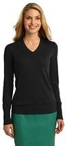 Port Authority Ladies V-Neck Sweater, Black, XXX-Large - $36.36