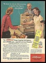 Eberhard's Market National Cash Register 1956 Photo AD - $10.99