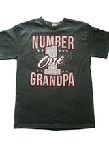 "Alstyle Men's ""Number 1 Grandpa"" Gray Cotton Graphic T-Shirt NEW - $7.97"