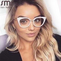 Ladies Optical Sexy Cat Eye Glasses Frames Women Brand Designer Eyeglasses Fashi image 6