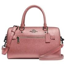 NWT COACH Rowan Satchel Crossbody Bag Classic Metallic Dark Blush Pink F... - $127.36