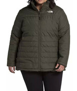 The North Face Women Plus Size Mossbud Insulated Reversible Jacket Green... - $109.25