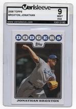 2008 Topps #44 Jonathan Broxton - Dodgers Graded MT 9 - $2.99