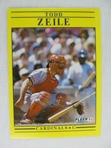 Todd Zeile St Louis Cardinals 1991 Fleer Baseball Card 654 - $0.98
