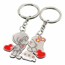 Couple Keychain Bride Groom Metal Keyring Decor Valentine Day Gift Key R... - $9.89
