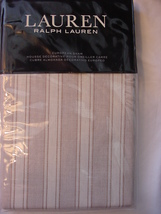 Ralph Lauren Graydon Bold Stripe Dune/Linen Beige/Ivory Euro Sham - $49.95