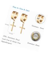 Cross Hoop Earrings for Men 4 Pair Stainless Steel Small Huggie  Drop - $21.99