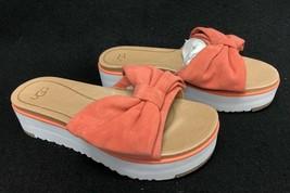 UGG Australia Women's Joan 1019868 Vibrant Coral Bow Tie Sandals Shoes - $89.99