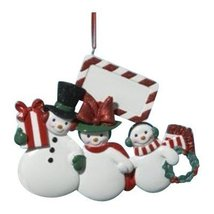Kurt Adler Resin Snowman Family of Three Ornament - $15.00