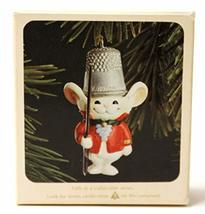 Thimble Mouse Thimble 5th in Series 1982 Hallmark Ornament QX4513 - $11.88