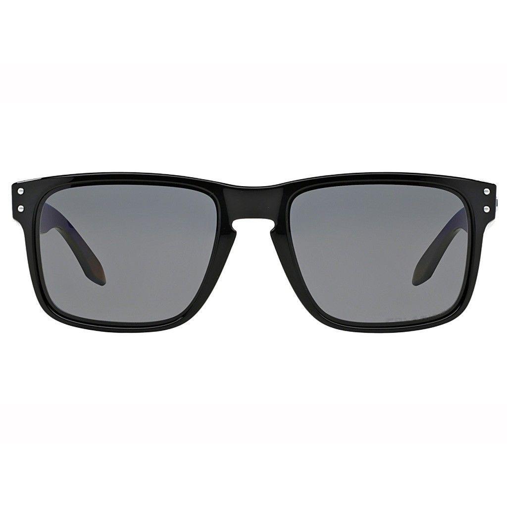 Neuf Oakley Sport Holbrook Poli Noir avec / Grises Polarisées OO9102-02