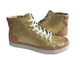 Ugg Gradie Glitter Gold Ankle Sneakers Leather Shoe Us 11 / Eu 42 / Uk 9.5 - $112.94 CAD