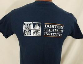 Boston Leadership Institute MA Blue Graphic T Shirt 100% Cotton M Medium - $10.97