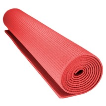 Yoga Mat, 3mm Compact Red Pilates Home Non-slip Pillowed Yoga Mat Gym - $27.99