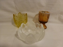 3 pc lot~ Fenton Glass trinket dish,opalescent toothpick holder & flower... - $22.99