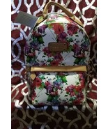 Adrienne Vittadini Womens The Saffiano Floral Collection Backpack (White) - $99.99