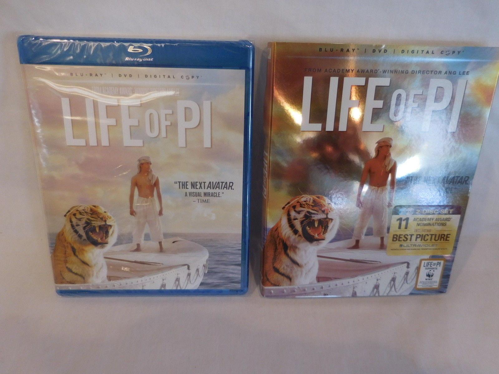 Life of Pi Blu-ray/DVD/Digital Copy 2-Disc Set BRAND NEW SEALED