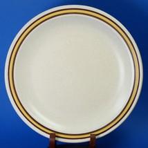 "Homer Laughlin Sahara 10"" Dinner Plate Yellow Band Brown Rings D-82 - $5.00"