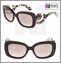 PRADA Minimal Baroque Swirl Brown Square Silver Mirrored Sunglasses PR27... - $232.65