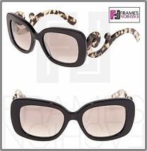 PRADA Minimal Baroque Swirl Brown Square Silver Mirrored Sunglasses PR27... - $232.65
