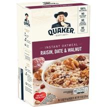 Quaker Raisin Date & Walnut Instant Oatmeal, 10 Count, 1.3 oz Packets - $5.00