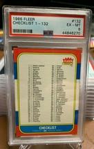 1986 FLEER #132 CHECKLIST 1-132 PSA 6 - $14.84