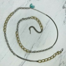 Kenneth Cole Reaction Beaded Mixed Chain Link Long Necklace - $12.59