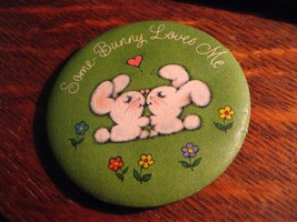 Some Bunny Loves Me Lapel Pin - Vintage 1979 Hallmark Cards Rabbit Love ... - $19.79