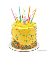 LLAMA Videogame CAKE CANDLE Cupcake Kids Birthday Decoration Top Supplies - $9.85