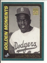 (SC-2) 2001 Topps Baseball Card #783: Jackie Robinson - Golden Moments - $1.00