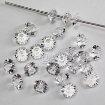 Swarovski Crystal Elements 5305 5mm Spacer Beads Crystal CLEAR -Pick Qua... - $4.00+