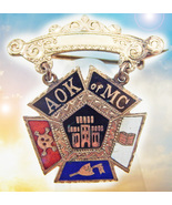 HAUNTED ANTIQUE PIN KNIGHTS OF THE MYSTIC CHAIN 7 KNIGHTS EXTREME MAGICK... - $337.77