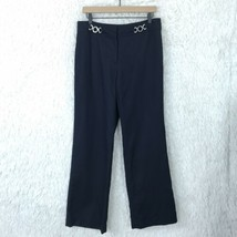 Ann Taylor Dress Pants Navy Blue Margo High Rise Lined Career Cotton Wom... - $31.77