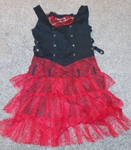 gothic/punk Alternative Xs punk dress. Black with red netting size large - $37.86