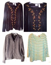 Size XL - Plus Size 3X ~ Villager Long Sleeve Sweaters, some with Beaded... - $28.49+