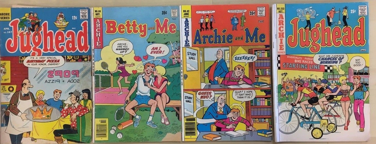 ARCHIE COMICS lot of (4) issues, as shown (1969-1977) Very Good  A