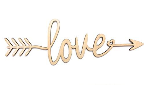 SDF ART - Love Wooden Sign - Wall Décor - Home Decoration for Living Room Bedroo - $29.39