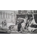 QUEEN CLEOPATRA Testing Poison for Suicide - 1888 Fine Antique  Print - $21.60