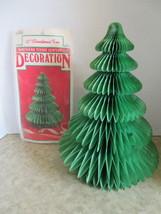 Vintage Christmas Tree Honeycomb Tissue Centerpiece (QB8) - $9.99